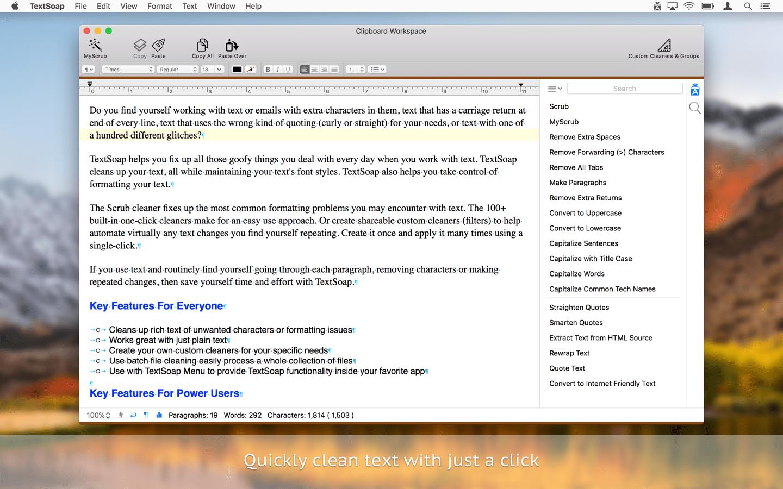 TextSoap for Mac 8.4.6 注册版 – Mac上强大的文字格式处理工具
