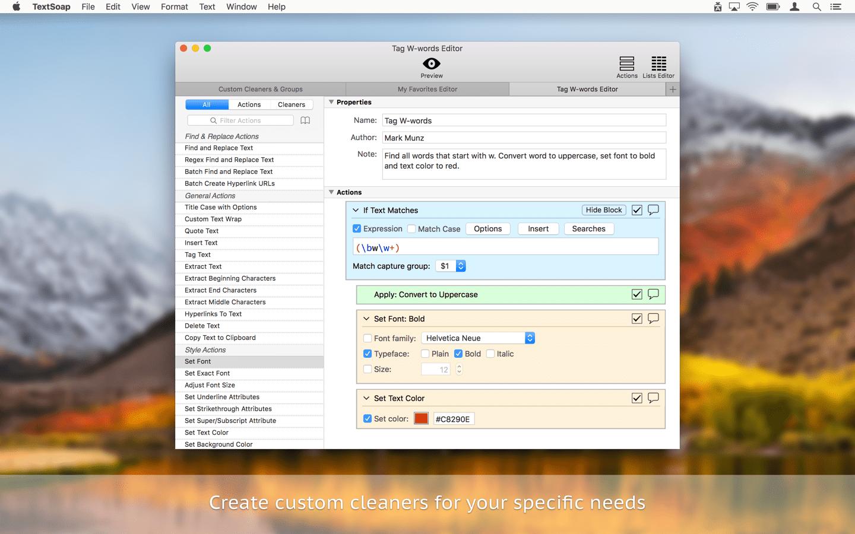 TextSoap for Mac 8.4.5 注册版 – Mac上强大的文字格式处理工具-爱情守望者